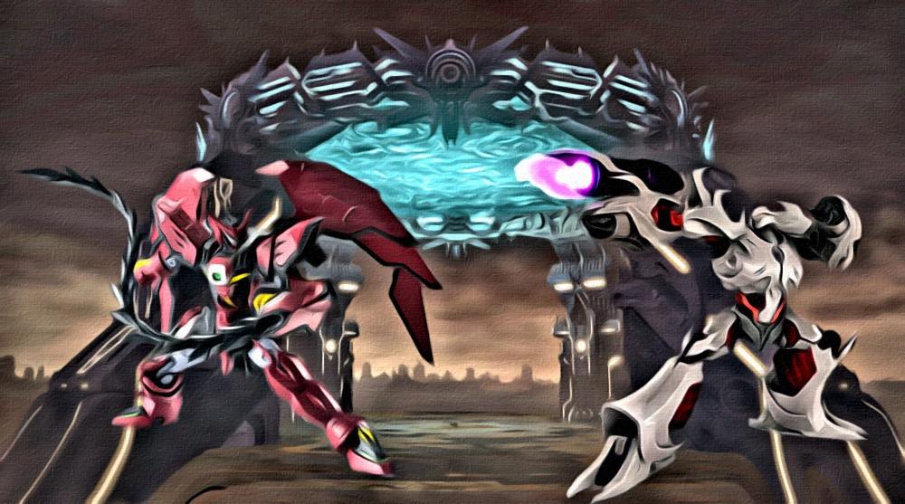 Epyon vs Megatron by M0rden