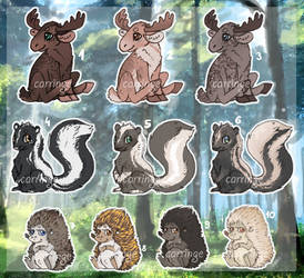 Forest Animals Adoptable [1/10 OPEN] by carringe