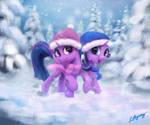 Trotting in a Winter Wonderland