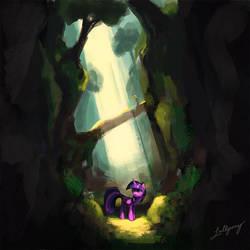 A Lone Adventurer by LolliponyBrony