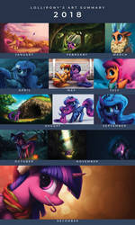 2018 Lollipony's Art Summary by LolliponyBrony