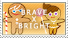 Brave X Bright Stamps