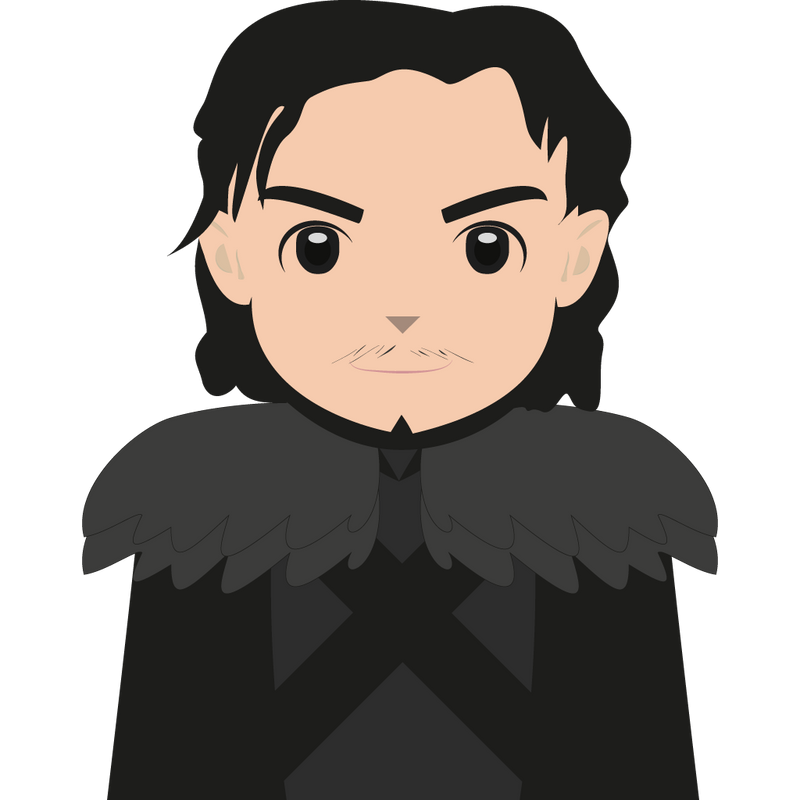 Jon Snow Cartoon by namln on DeviantArt