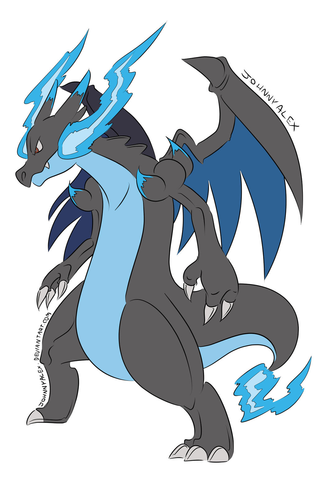 Mega Charizard X by JohnnyAlex