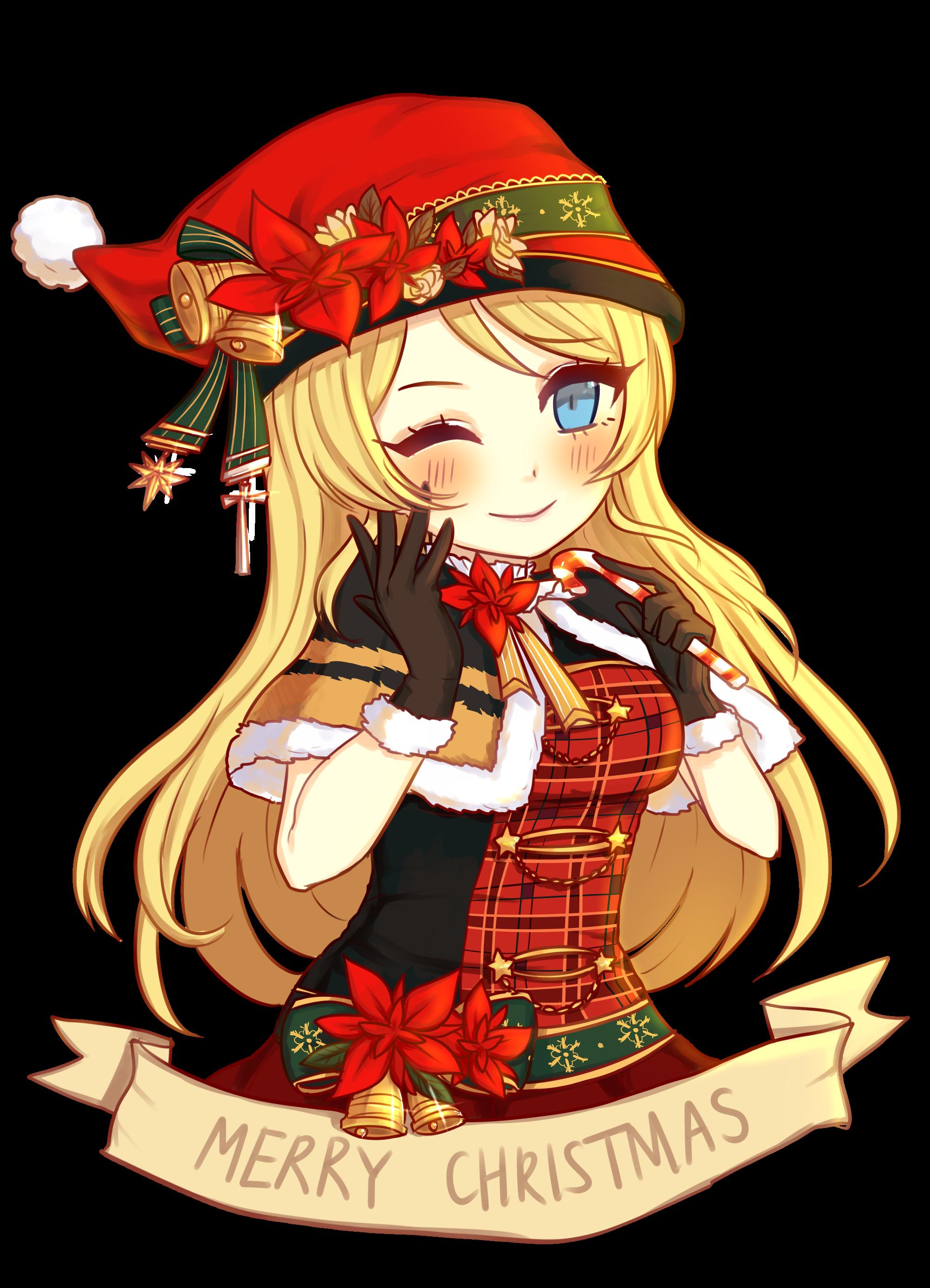Resultado de imagem para merry christmas anime png