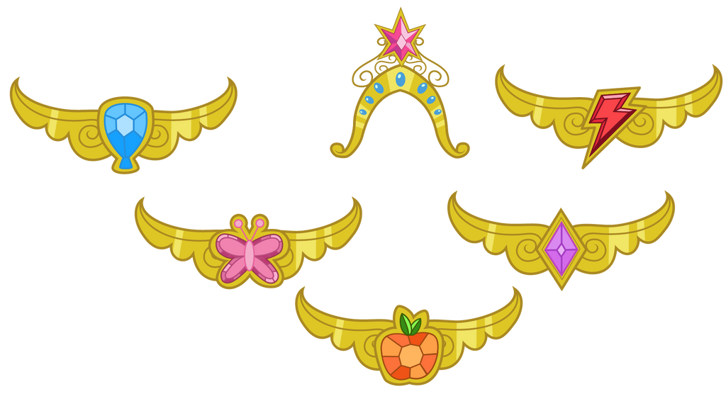 My Little Pony Elements Of Harmony Coloring Pages : Elements of harmony accessories together by evilbob on
