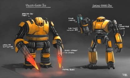 Golem Robots by whatzitoya