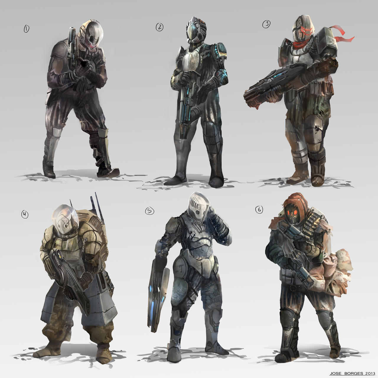 Sci-Fi Cybernetic Soldiers - Bing images