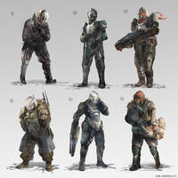 Sci-fi Soldiers by whatzitoya