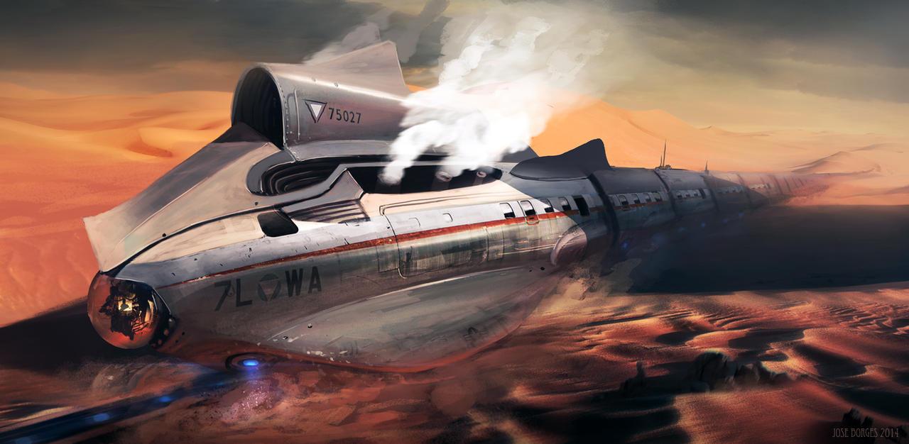 Desert Shark Bullet Train by whatzitoya
