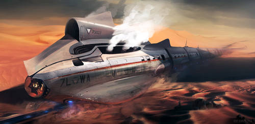 Desert Shark Bullet Train by whatzitoya