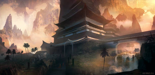 Temple in the Exotic Mountains