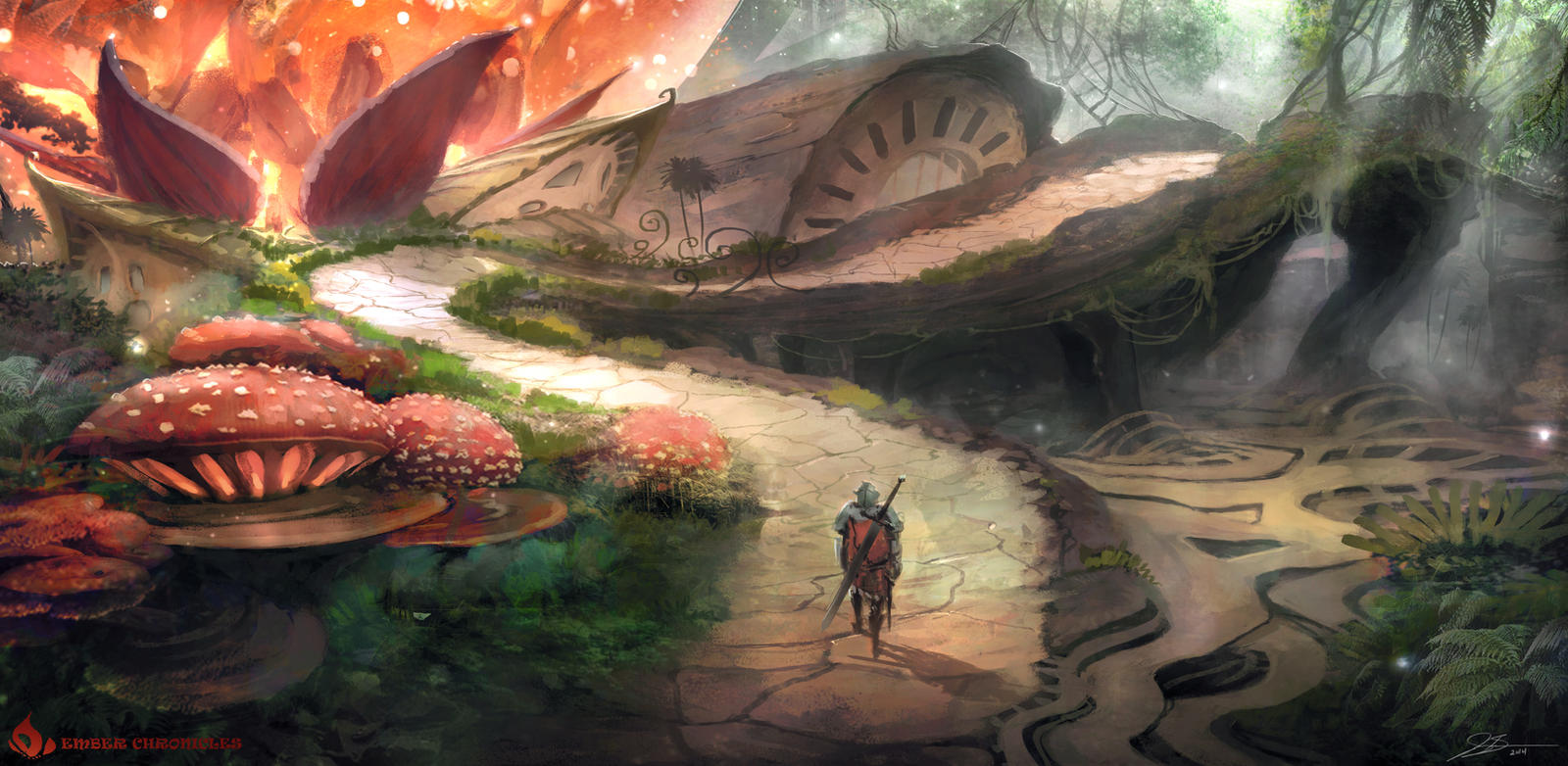 Ember Chronicles Concept 1 by whatzitoya