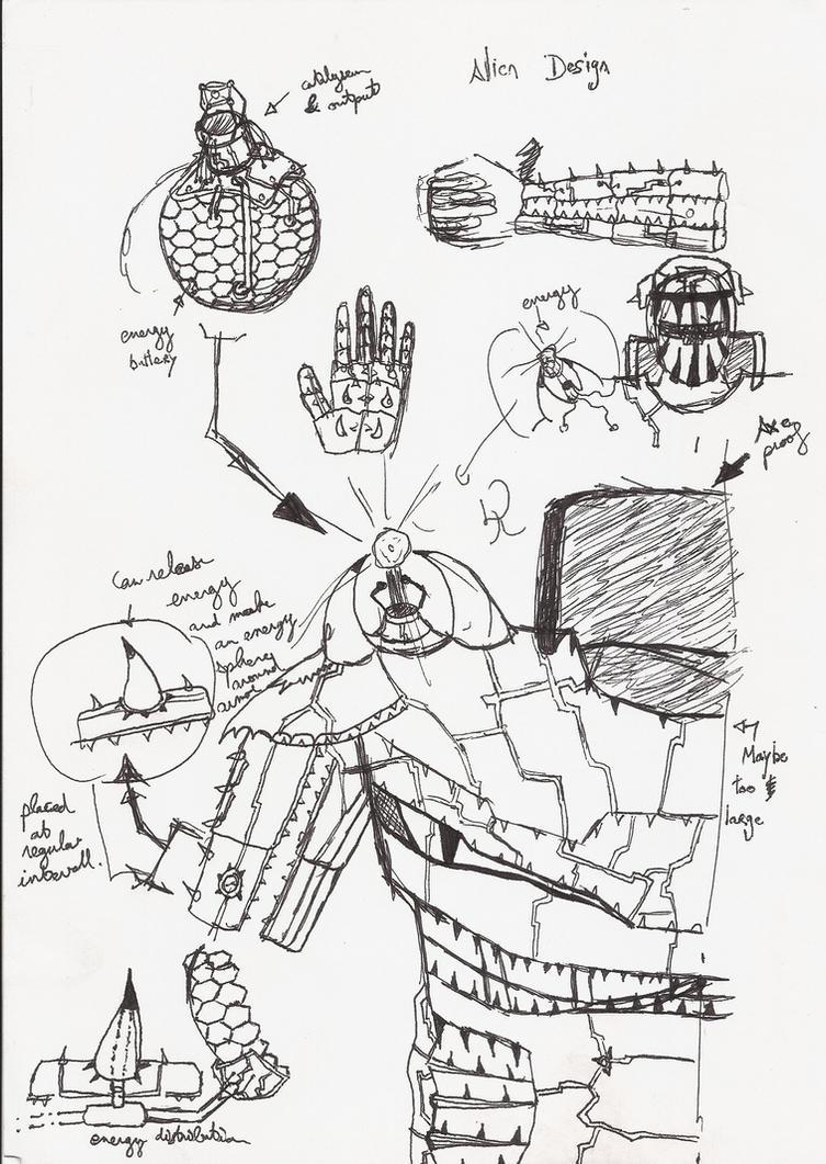 Anime Armor Design Alpha Anime Alien Armor Design