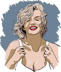 Marilyn - quick vector art practise...