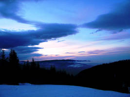 Late sunset by alebale