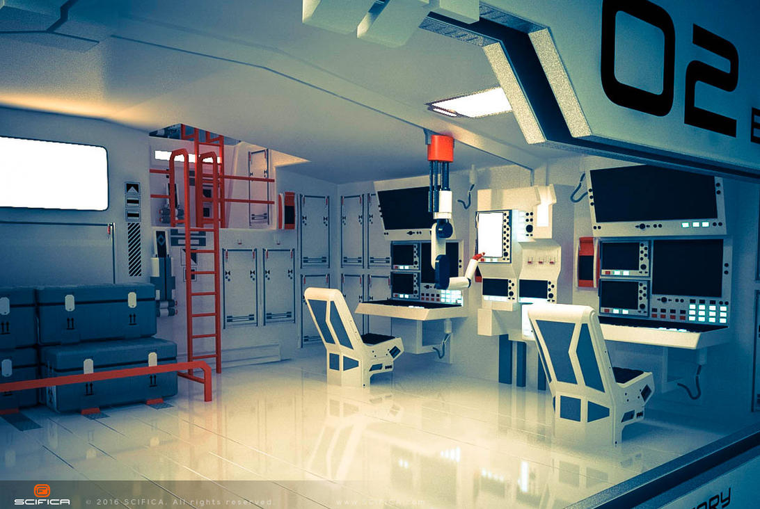 Scifi interior design hard surface model by scifica on deviantart for Is it hard to become an interior designer