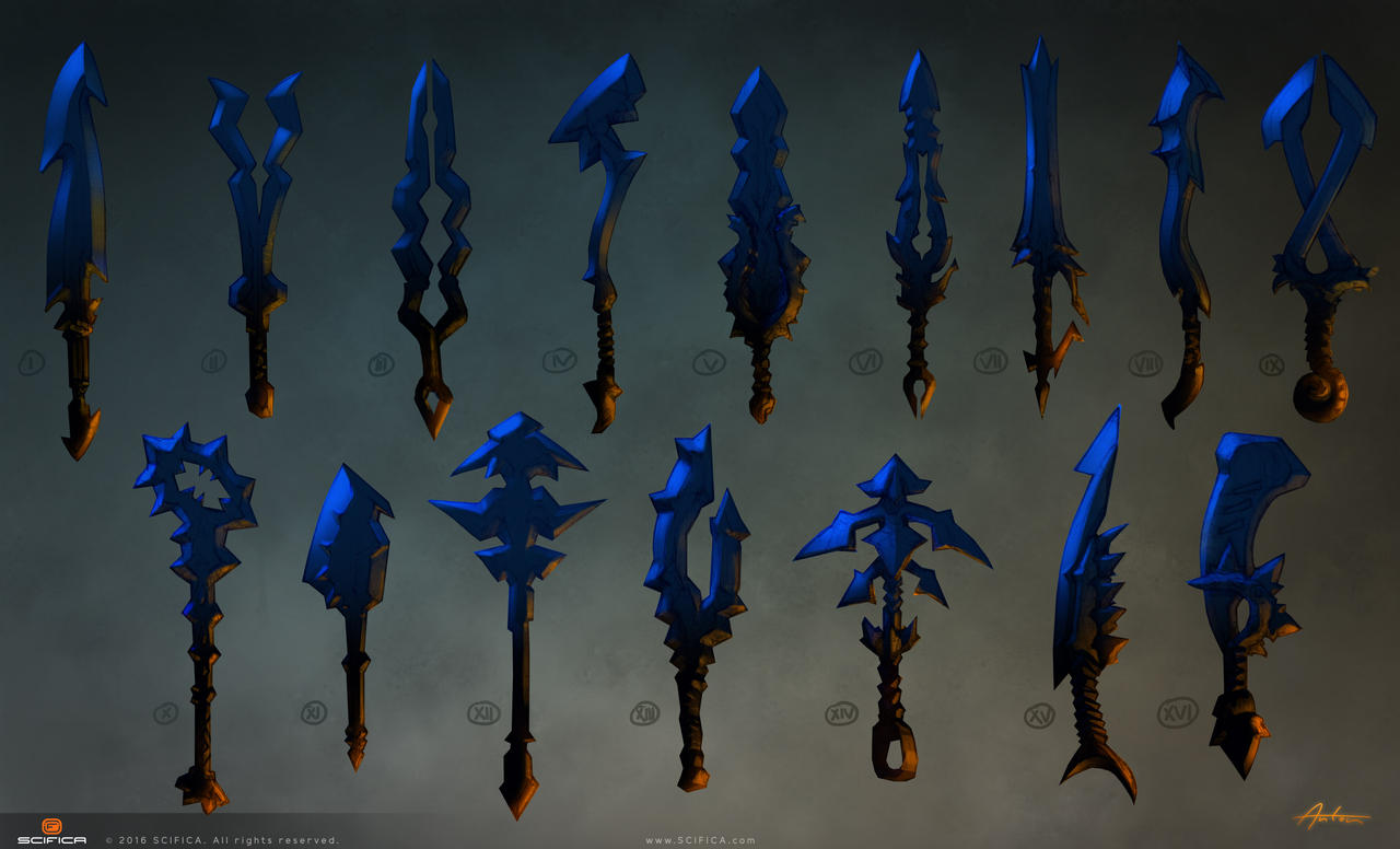 Scifica Conceptart Fantasy Weapon Sword By Scifica On