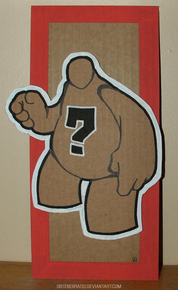 Cardboard dude by Obtenebratio