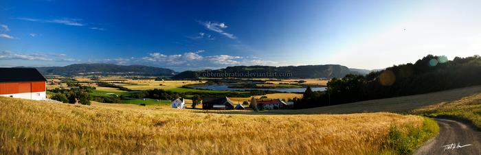 Rural panorama by Obtenebratio