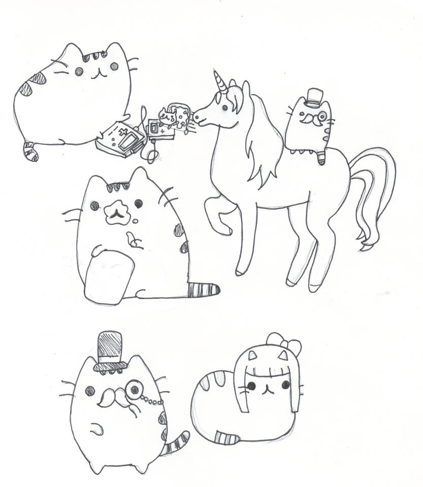 Pusheen Da kitten by GAGAISMYSOUL