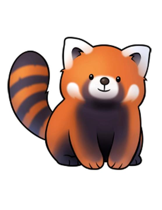 Chibi red panda - photo#8