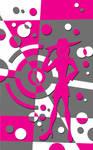 Graphic fashion show poster