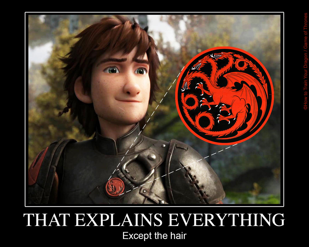 How To Train Your Dragon 2 Hiccup And Toothless Poster Hiccup Targaryen by mi...
