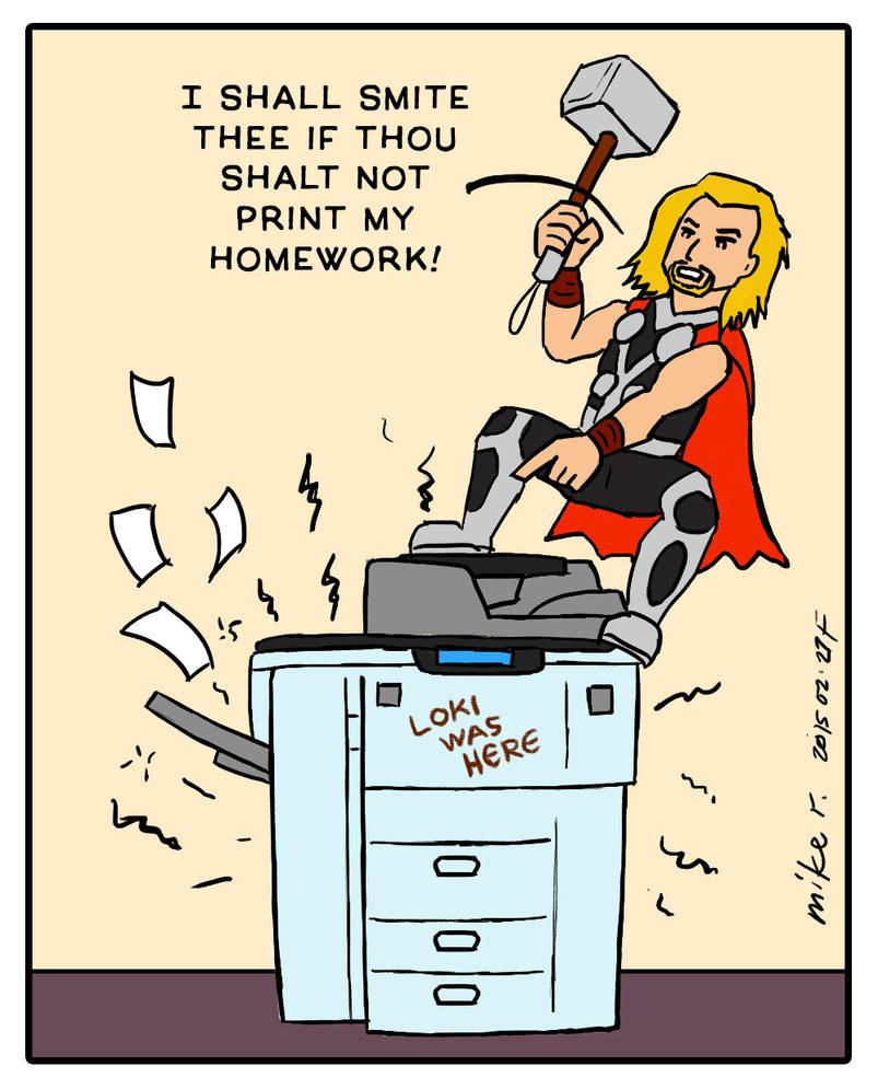 Thor Has Printer Problems By Mirisu92 On DeviantArt