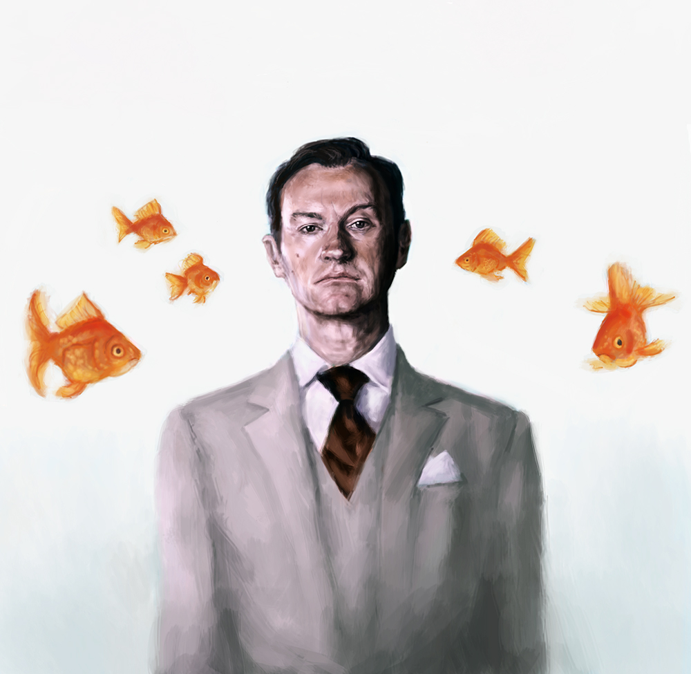 Mycrof Holmes - I'm living in a world of goldfish by ImperfectSoul