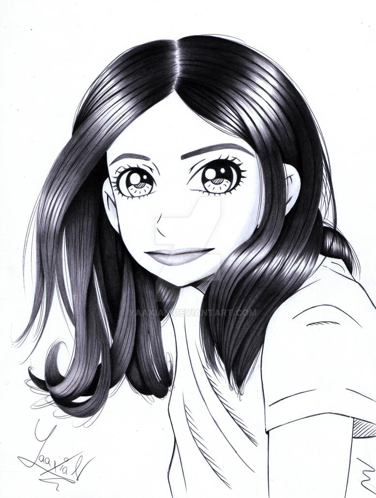 Drawing of a girl. by Yaaxian