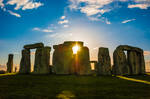 Stonehenge at sunset by mcastiello