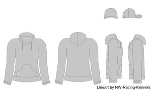 Hoodie and Cap design lineart