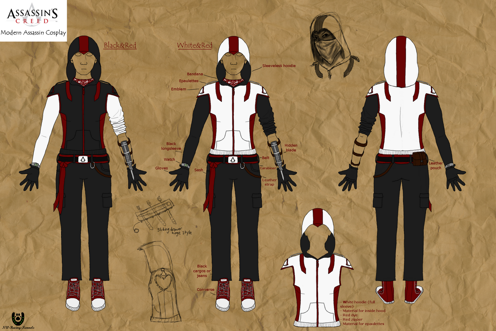 Modern Assassin Cosplay Designs by NightCur on DeviantArt