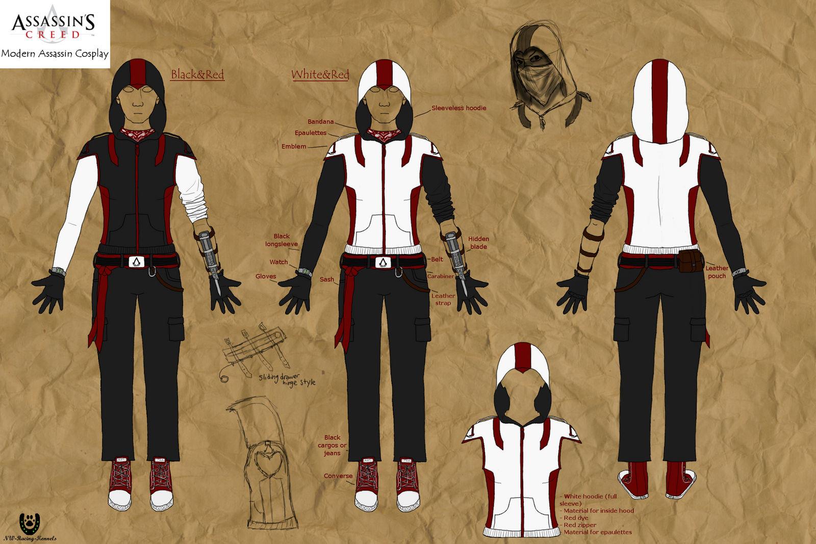 Modern Assassin Cosplay Designs