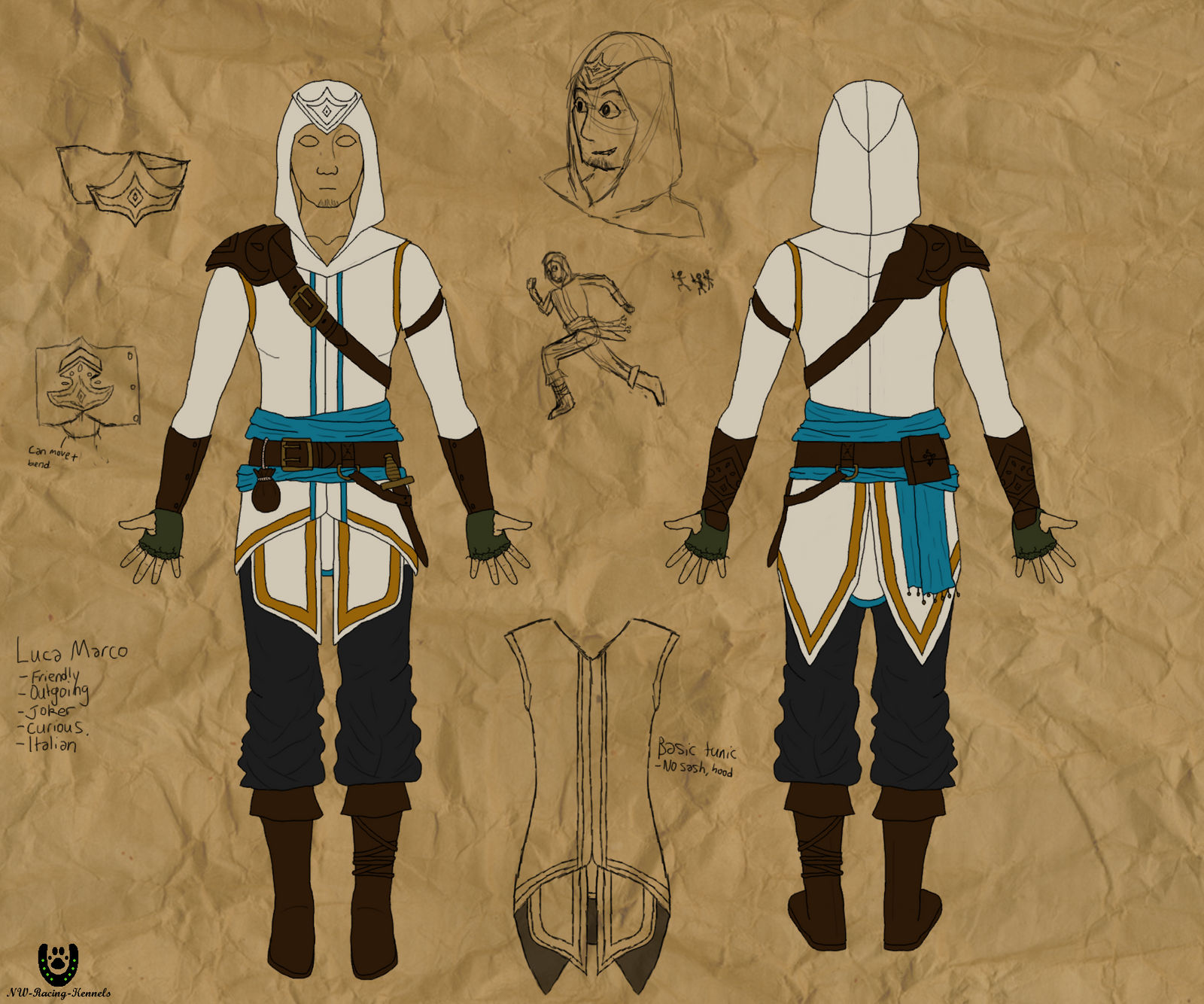 Character Costume design - Luca Marco