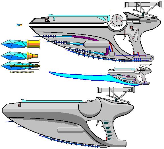 Bladed Atlantian Pistol by warp2002