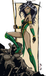 Jade from Mortal Kombat by Zupano