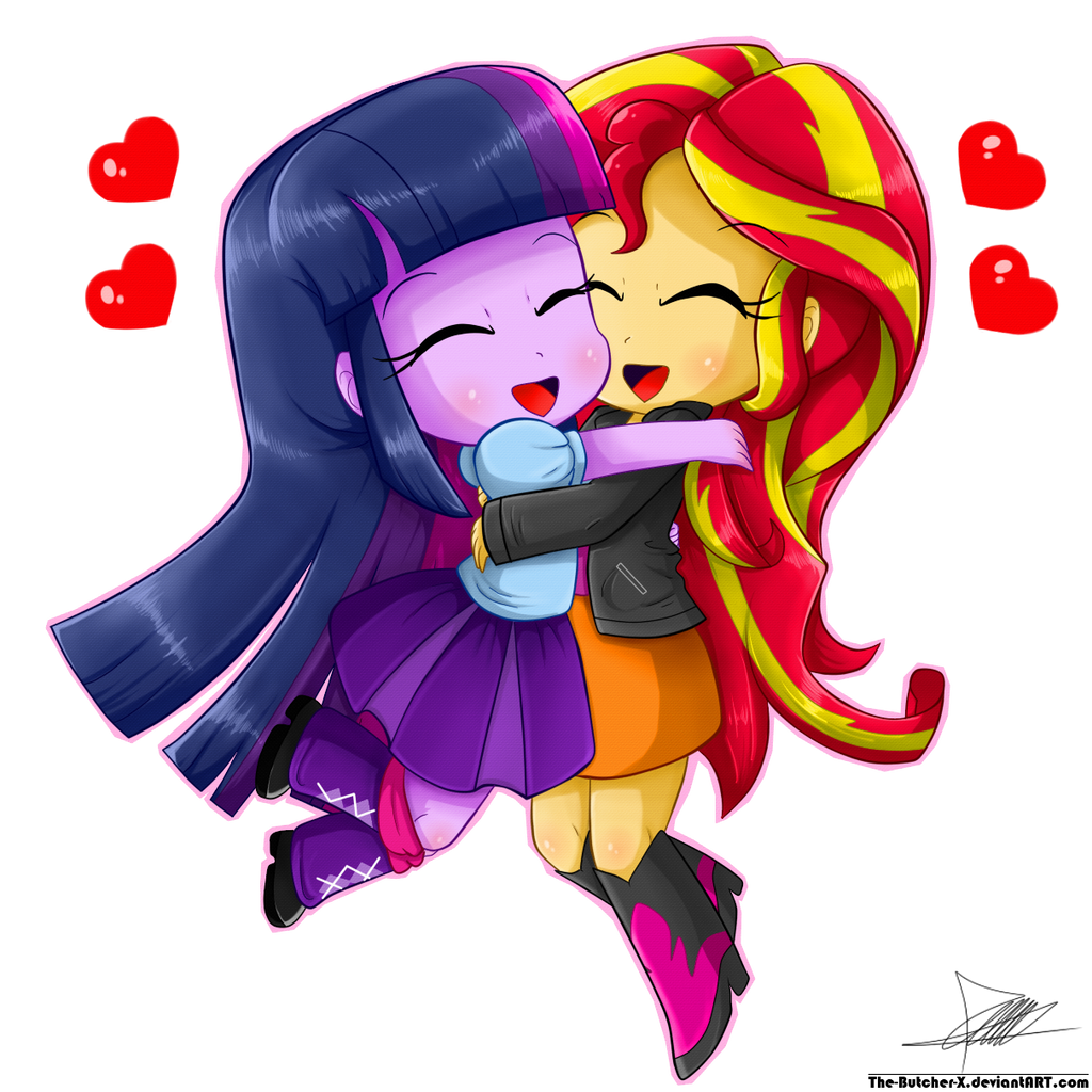 .:Chibi Hug:. by The-Butcher-X on DeviantArt