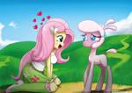 .:Human Pony n' Lamb:. by The-Butcher-X