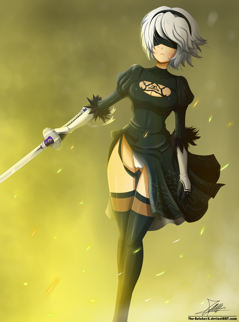 .:2B:. (Commission) by The-Butcher-X