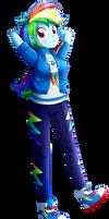 .:Rainbow Dash - EqG Style:. (Commission)