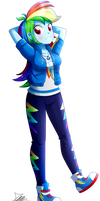 .:Rainbow Dash - EqG Style:. (Commission)