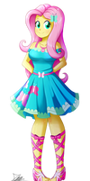 .:Fluttershy - EqG Style:. (Commission)
