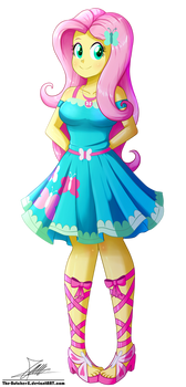 .:Fluttershy - EqG Style:. (Commission) by The-Butcher-X