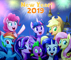 .:NEW YEAR! 2019:. (MLP:FiM) by The-Butcher-X