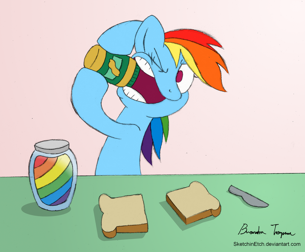 Dashie's Peanut Butter Conflict - Day 7 by SketchinEtch
