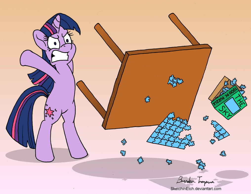 A Puzzled Twilight Sparkle - Day 15 by SketchinEtch