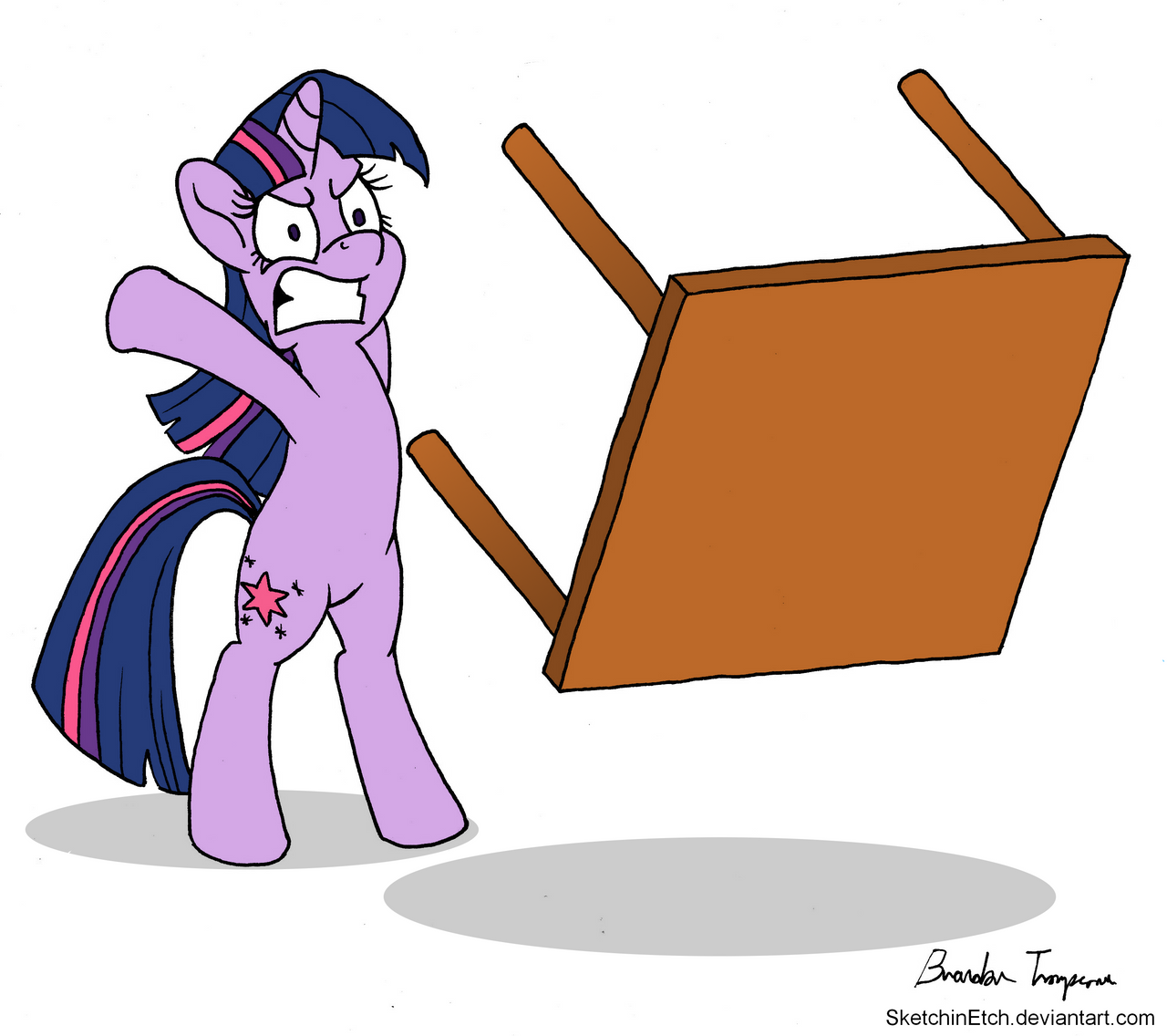 twilight is table flipping mad by sketchinetch - Table Flip
