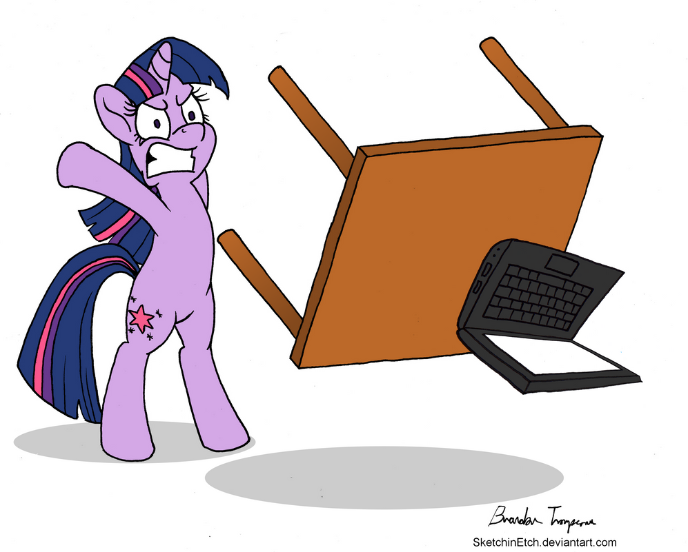 Twilight Flipping Computer Desk by SketchinEtch